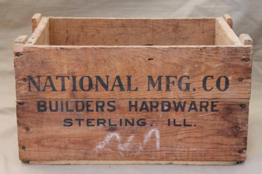 Rustic Vintage Wood Crate Old Box From Builders Hardware Sterling