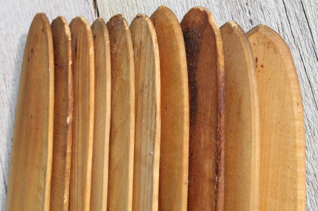 rustic wood pickets, fur trapper's pelt stretchers primitive cabin decor