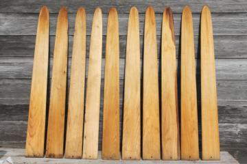 rustic wood pickets, fur trapper's pelt stretchers primitive cabin decor