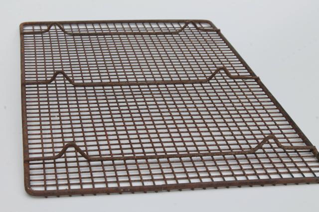 rusty old antique wire cooling rack, primitive vintage kitchen tool photo prop