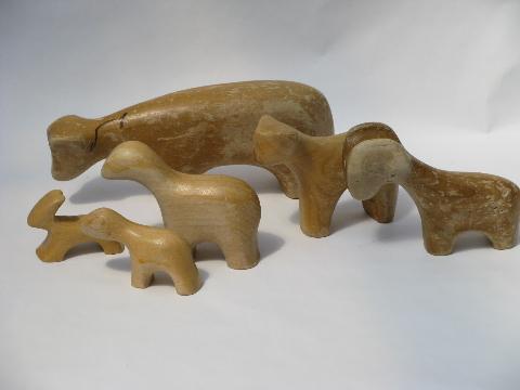 Kenyan wood carvings