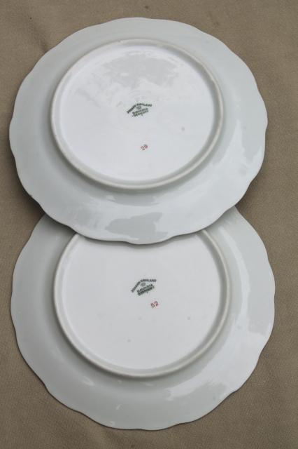set of 10 Blue Garland china salad plates, vintage Bavaria mark Johann Haviland