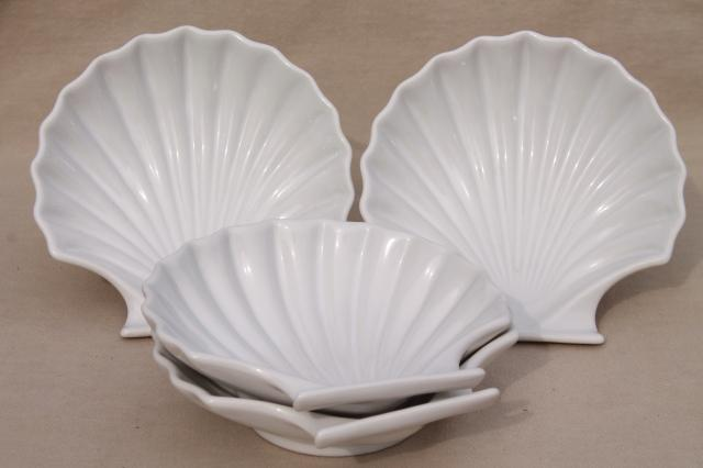 Set Of 4 Seashell Scallop Shell Shaped Baking Dishes Oven