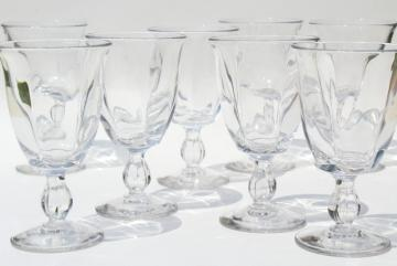 set of 8 Duncan & Miller Canterbury crystal clear goblets, wine or water glasses