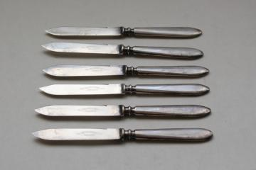set of silver fruit knives, vintage silverware, International 1847 Rogers silverplate flatware