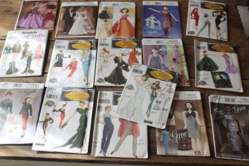 sewing patterns lot, Gene fashion doll clothes, Hollywood style vintage designer outfits