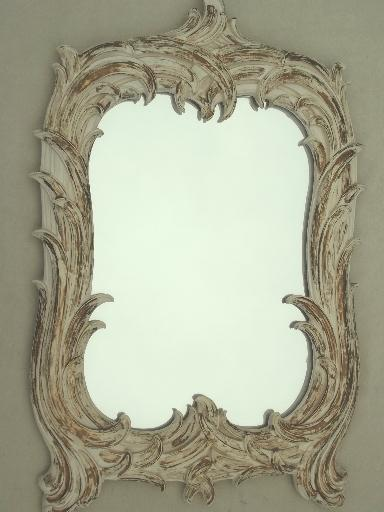 Shabby Cottage French Country Gold Amp White Mirror Vintage