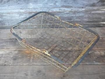 shabby french county vintage wire farm vegetable market or bread basket
