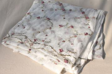 shabby roses embroidered net lace tablecloth cover scarf, banquet table size