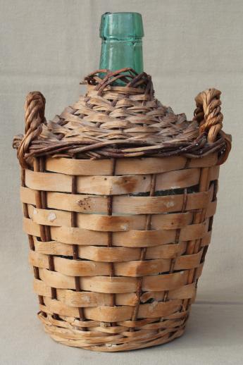 Vintage wine basket bottle opinion