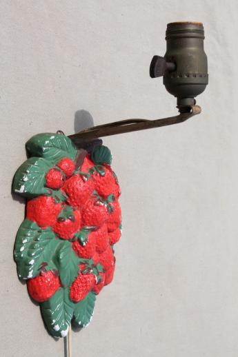 shabby vintage chalkware pin up lamp cottage kitchen wall sconce