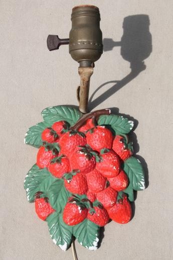 Shabby Vintage Chalkware Pin Up Lamp Cottage Kitchen Wall