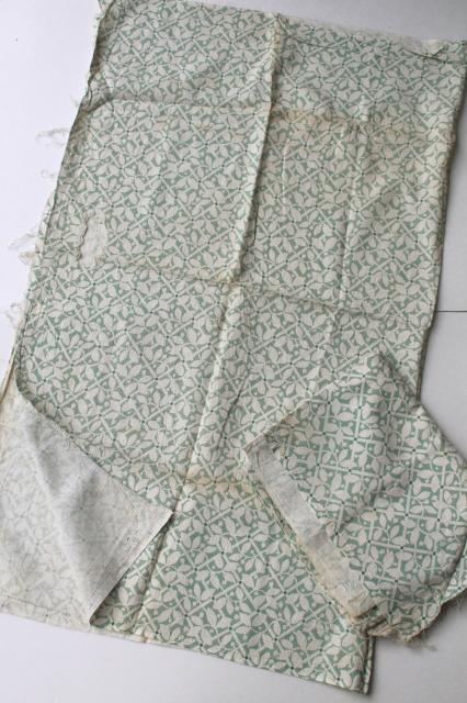 shabby vintage feedsack fabric, lot of pretty print cotton flour sack / feed sacks