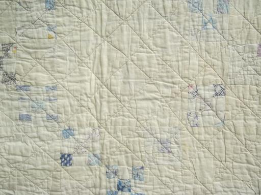 shabby vintage quilts, old antique cotton print patchwork