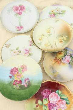 shabby vintage roses china trays & serving plates, floral dishes for wedding, tea party