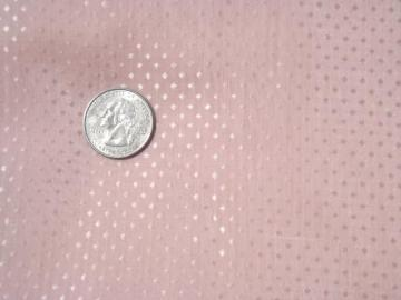 sheer pink dotted cotton dimity vintage fabric, pretty for doll clothes
