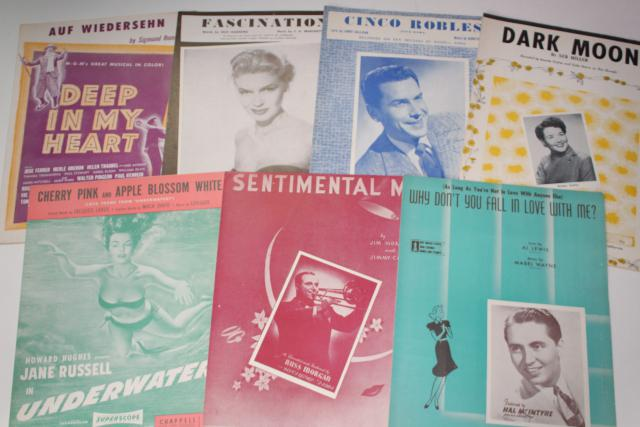 sheet music lot 100+ pieces antique & vintage songs retro