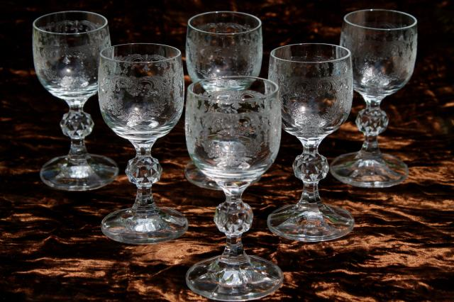 Sherry Wine Or Cordial Glasses Set Of 6 Tiny Goblets