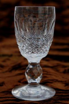 signed Waterford crystal Colleen sherry / cordial glass, vintage stemware