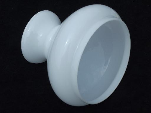 Small Milk White Glass Shade For Student Lamp New Old