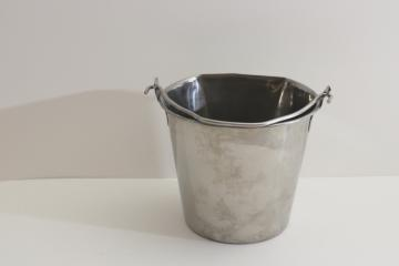 small stainless steel pail w/ handle, goat milking bucket, food grade dairy equipment