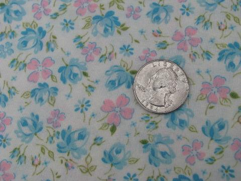 so soft vintage pure cotton flannel, 36'' wide, floral print on white