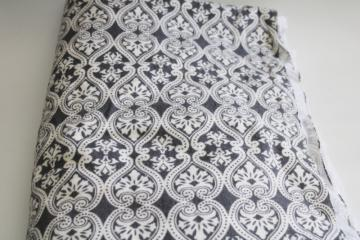 soft cotton flannel fabric 4 yds Jo-Anns fabrics grey & white print