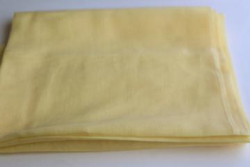 soft light pure cotton voile, 1960s 70s vintage fabric yellow solid color material