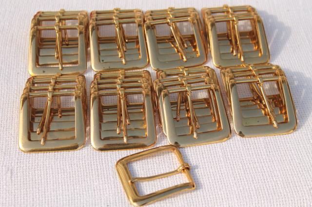 solid brass belt buckles new old stock craft supplies lot