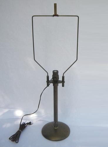 solid brass, early industrial vintage, adjustable work table lamp