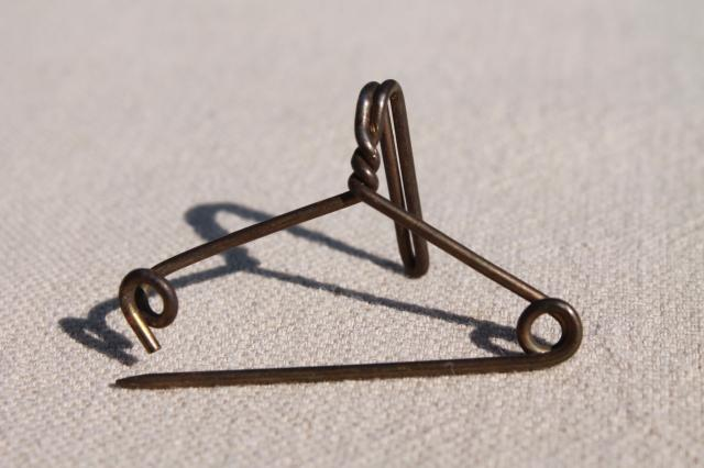 Solid Brass Hanger Pins, Tag / Label Holders, Vintage Industrial Office  Supplies