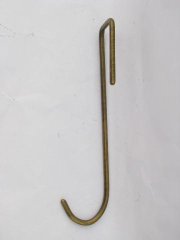 Solid Brass Over The Door Coat Hook Or Wreath Hanger, Architectural Hardware