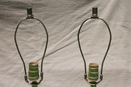 solid brass torch lamps w/ three way switch, mid-century vintage Stiffel lamps?