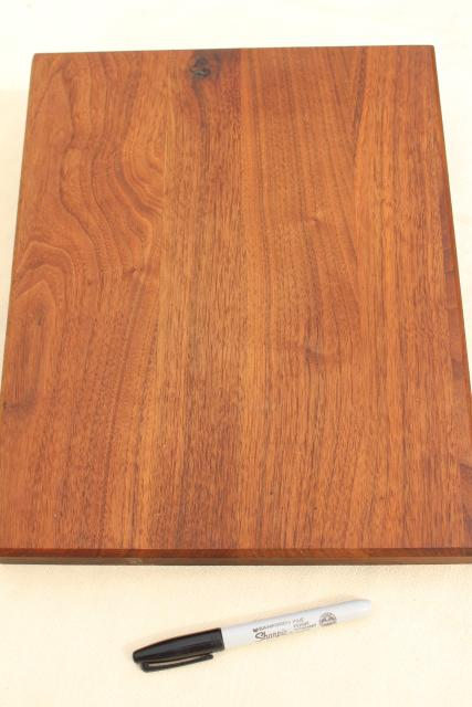 solid walnut wood slab breadboard, cutting board or cheese tray, rustic modern vintage