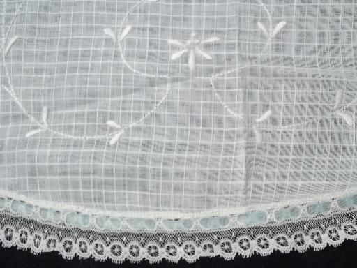 something old w/ something blue, antique cotton lace apron for a bride