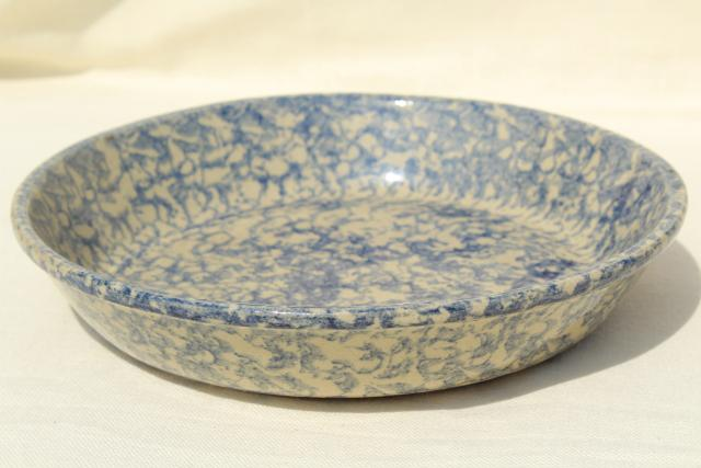 spongeware stoneware pie pan blue sponge ware plate Robinson Ransbottom pottery & spongeware stoneware pie pan blue sponge ware plate Robinson ...