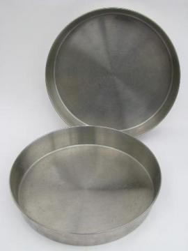 stainless steel layer cake pans, 9'' diameter