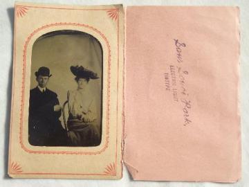 steampunk vintage cabinet photo, antique tintype Sans Souci Park Wilkes Barre