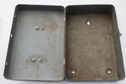 steampunk vintage electrical enclosure box, machine age  vintage home fuse box #11