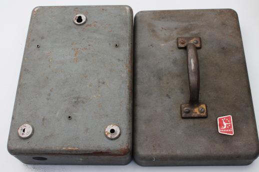 Steampunk vintage electrical enclosure box machine age