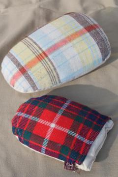 tailor's pressing ham & pressing mitt, vintage ironing / tailoring tools
