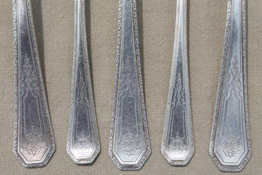 tarnished antique & vintage silverware, lot of mixed silver plate flatware