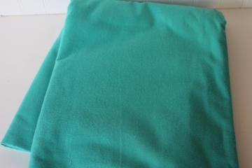 teal blue jade solid color thick soft all cotton flannel or chamois fabric