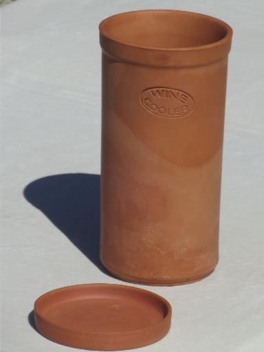 Terracotta Wine Cooler Vintage Italian Pottery Wine