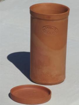 terracotta wine cooler, vintage Italian pottery wine bottle chiller