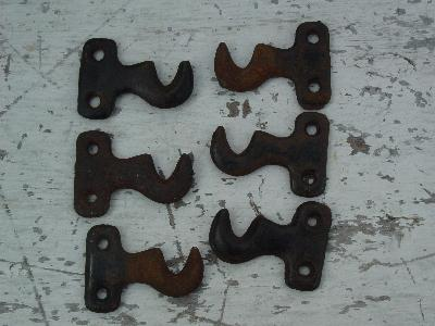 Three Pair Of Antique Curtain Rod Mounting Brackets