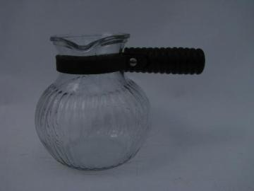 tiny Silex glass coffee pot / individual carafe, vintage 1940s-50s