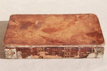 tiny leather bound pocket book dated 1837, Night Thoughts 19th century antique edition