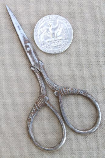 Tiny Old Embroidery Scissors Antique Vintage Chatelaine