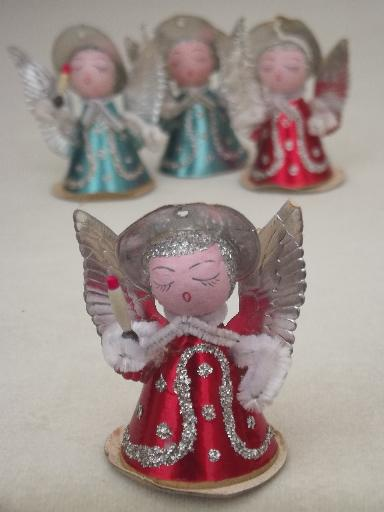Tiny Paper Angels Vintage Made In Japan Christmas